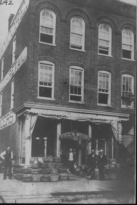 Rice & Moore Grocery, 1875
