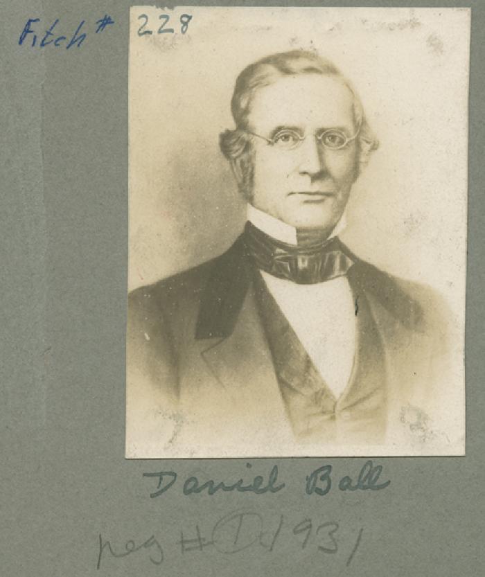 Sketch. Daniel Ball (1807-1865)