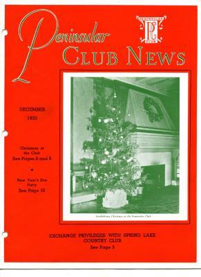 Peninsular Club News, December 1935