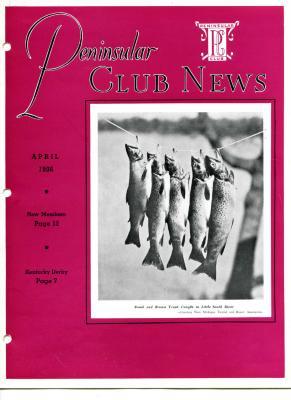 Peninsular Club News, April 1936