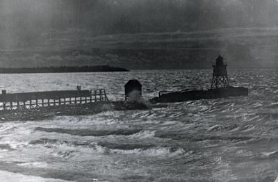 Unidentified pier and water