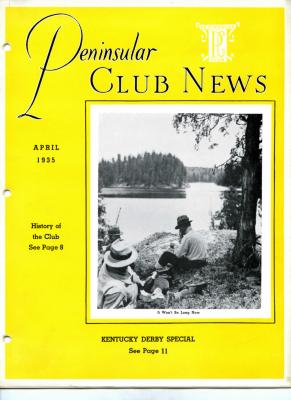 Peninsular Club News, April 1935