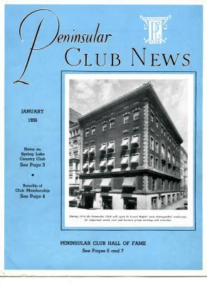 Peninsular Club News, January 1936
