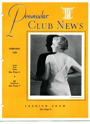 Peninsular Club News, February 1936