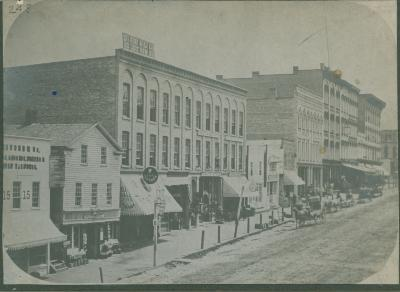 Monroe Center view, 1870