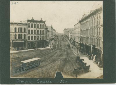Campau Square view, 1875