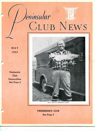 Peninsular Club News, May 1935