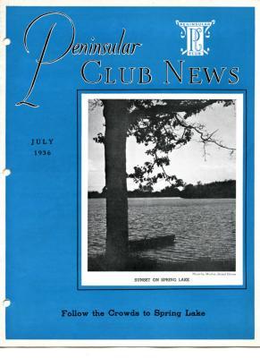 Peninsular Club News, July 1936