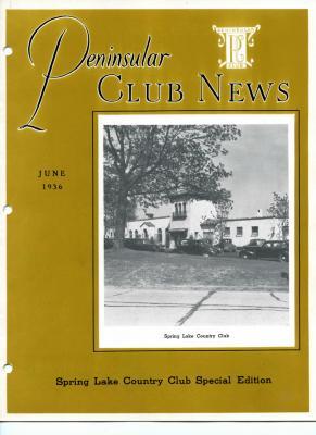 Peninsular Club News, June 1936
