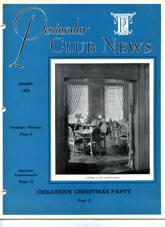 Peninsular Club News, January 1935