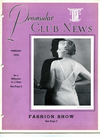 Peninsular Club News, February 1935