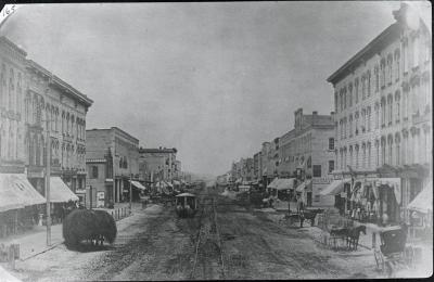 Monroe Street view, 1870