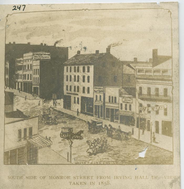 Monroe Center view, 1858