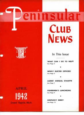 Peninsular Club News, April 1942