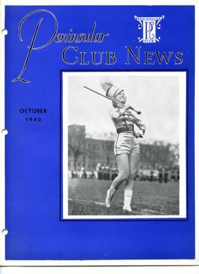 Peninsular Club News, October 1940