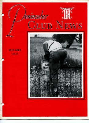 Peninsular Club News, October 1941