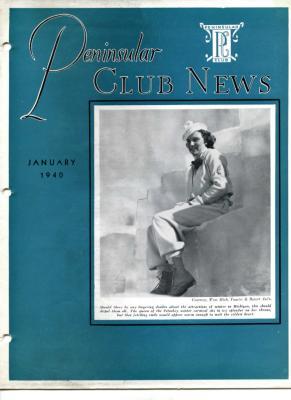 Peninsular Club News, January 1940