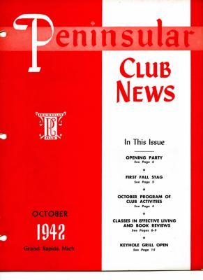 Peninsular Club News, October 1942