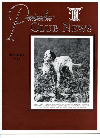 Peninsular Club News, November 1938
