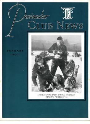 Peninsular Club News, January 1937