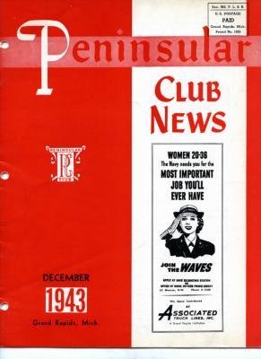 Peninsular Club News, December 1943