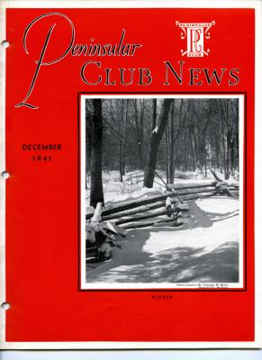 Peninsular Club News, December 1941