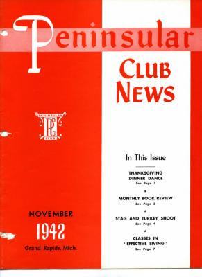 Peninsular Club News, November 1942
