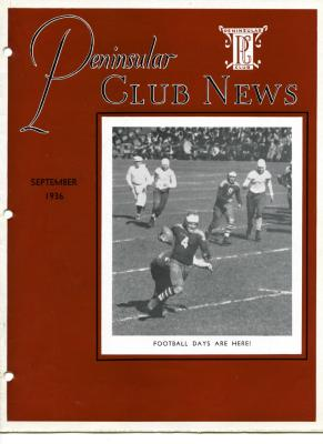 Peninsular Club News, September 1936