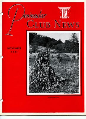 Peninsular Club News, November 1941