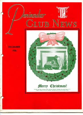 Peninsular Club News, December 1936