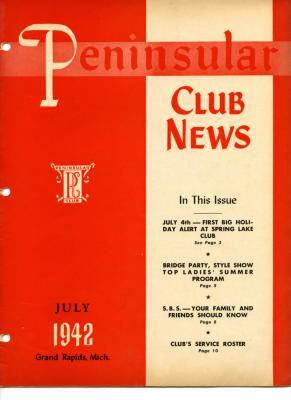 Peninsular Club News, July 1942
