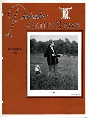 Peninsular Club News, November 1936