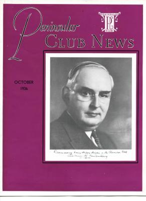 Peninsular Club News, October 1936