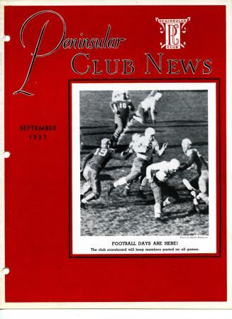 Peninsular Club News, September 1937