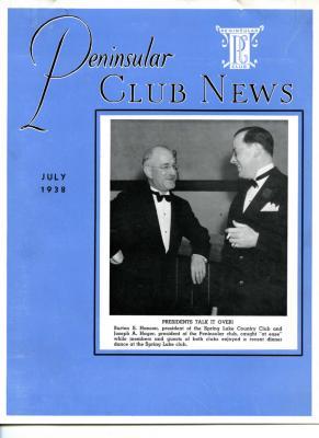Peninsular Club News, July 1938