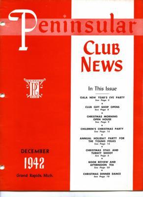 Peninsular Club News, December 1942