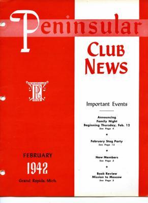 Peninsular Club News, February 1942