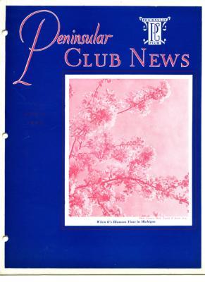 Peninsular Club News, April 1940