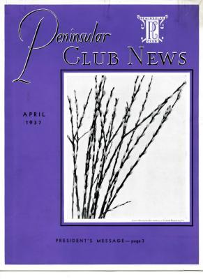 Peninsular Club News, April 1937