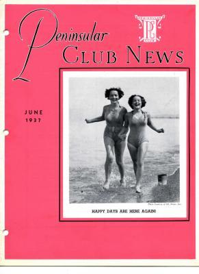Peninsular Club News, June 1937