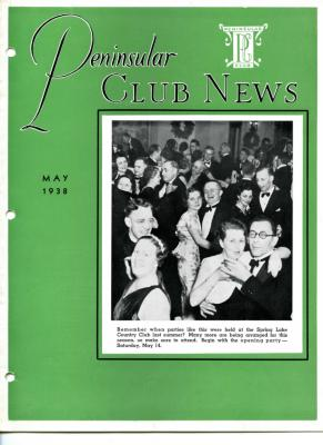 Peninsular Club News, May 1938
