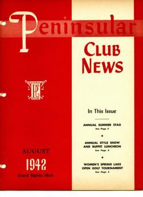 Peninsular Club News, August 1942