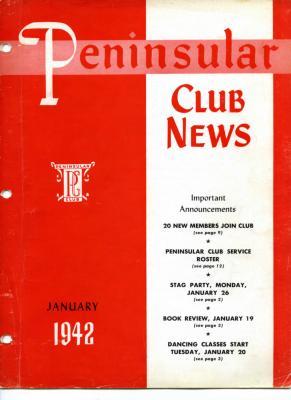 Peninsular Club News, January 1942