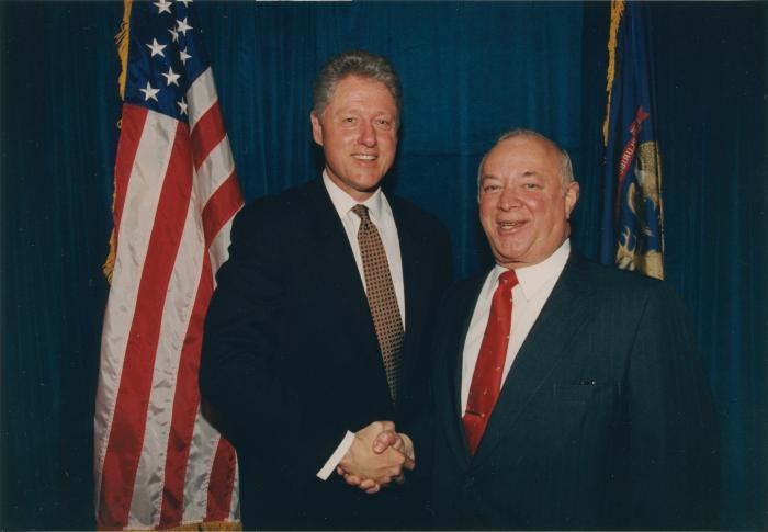 State Representative Tom Mathieu with U.S. President Bill Clinton