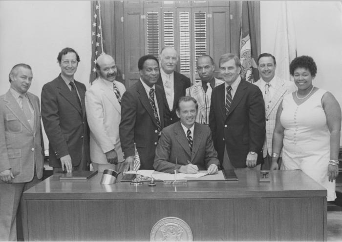 Signing Legislation with Governor William Milliken