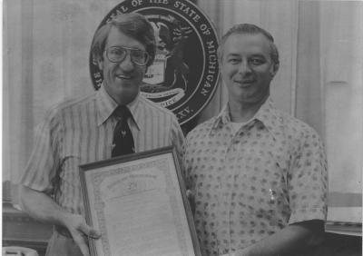State Representative Tom Mathieu  with House Speaker Bobby Crim