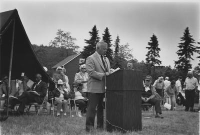 State of Michigan Representative Tom Mathieu Speaking At Michigan CCC Museum Dedication