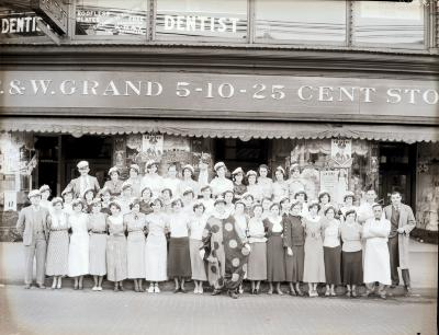 People in front of F&W Grand