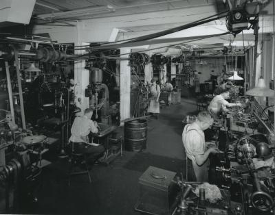 Bissell Carpet Sweeper Company factory interior