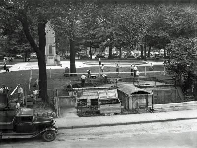 Construction in Veterans Park